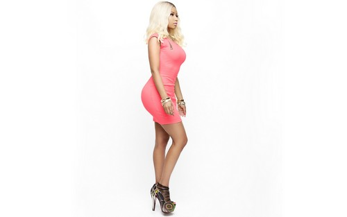 Nicki Minaj wallpaper probably containing a chemise, a cocktail dress, and a chemise entitled Nicki Minaj