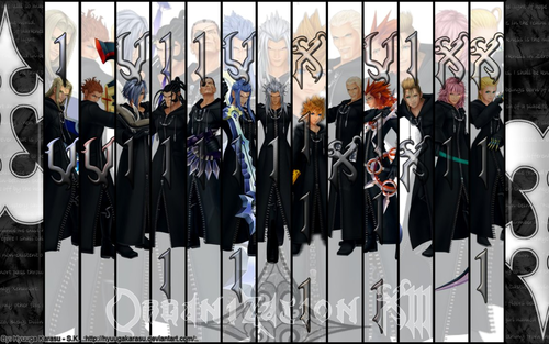 Kingdom Hearts fond d'écran titled Organization XIII