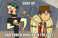 PUNCH DUNCAN IN THE FACE! - total-drama-island fan art