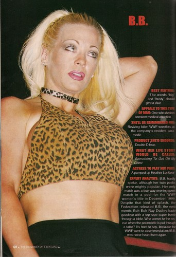 Former WWE Diva & Miss TNA... Kathy Dingman achtergrond possibly with attractiveness called PWI Women of Wrestling 2002