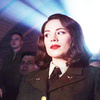 Random photo possibly containing a business suit, a well dressed person, and a pea jacket titled Peggy Carter Icons