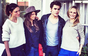 Phoebe Tonkin, Nina Dobrev, Paul Wesley & Candice Candice Accola in Savannah, Georgia