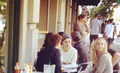 Phoebe Tonkin, Nina Dobrev, Paul Wesley & Candice Candice Accola in Savannah, Georgia - the-vampire-diaries photo