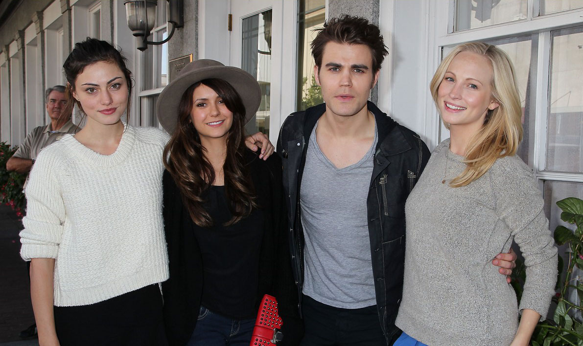 Candice Accola and paul wesley