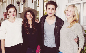 Phoebe Tonkin, Nina Dobrev, Paul Wesley and Candice Accola- Savannah Film Festival 2013