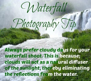 Waterfall Fotografie Tip