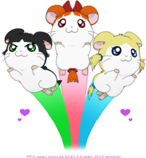 Hamtaro Hintergrund probably with Anime called Powerpuff Ham