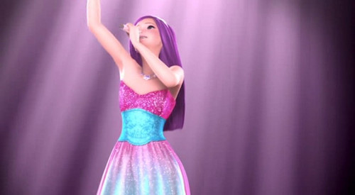 Barbie the Princess and the popstar wallpaper probably with a dinner dress entitled Prologue - Here I am / Princesses Just Want to Have Fun