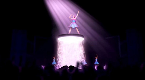 Barbie the Princess and the popstar wallpaper with a fountain titled Prologue - Here I am / Princesses Just Want to Have Fun