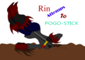 Rin attemps to pogo - sonic-fan-characters photo