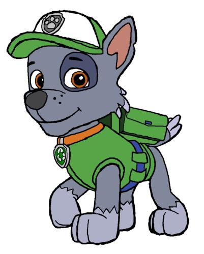 PAW Patrol karatasi la kupamba ukuta containing anime titled Rocky - Recycler Pup