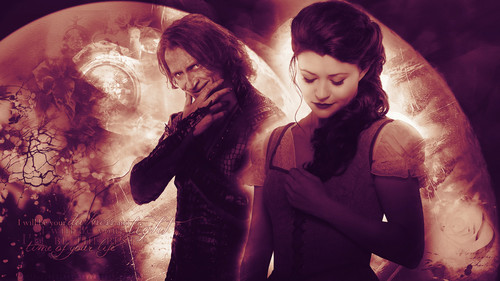 once upon a time wallpaper titled Rumpelstiltskin & Belle