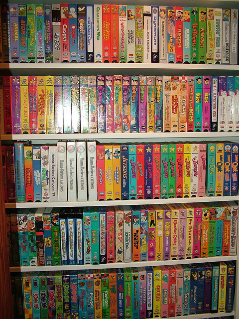 Vhs Images Shelf Of Vhs Tapes 3 Hanna Barbera Wallpaper