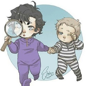 Sherlock & John Chibi