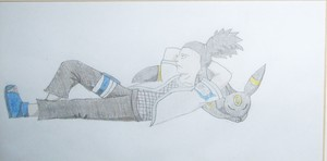 Shikamaru with an umbreon! :D