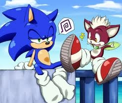 Sonic the Hedgehog wallpaper with anime called Shoe Swap with Chip