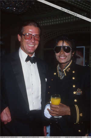Sir Roger Moore And Michael Jackson