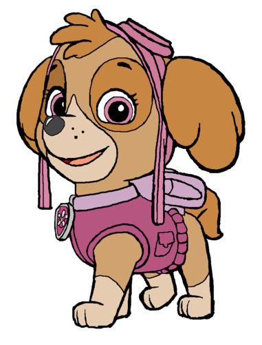 PAW Patrol karatasi la kupamba ukuta containing anime titled Skye - Aviation Pup