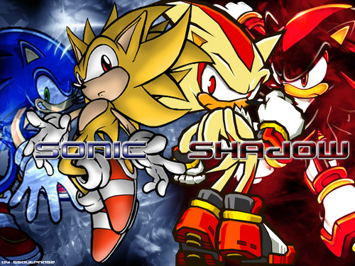 Sonic the Hedgehog wallpaper entitled Sonic & Shadow wallpaper