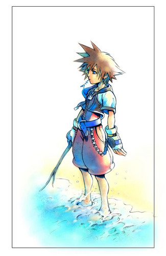 kingdom hearts wallpaper containing animê titled Sora