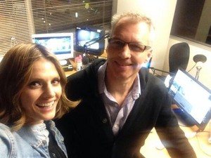 Stana on the radio-Octuber,2013