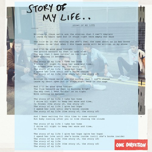 Story of My Life lyrics - One Direction Photo (35919425 ...