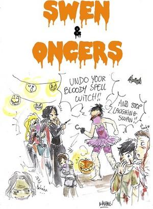 zwaan-, zwaan Queen Halloween