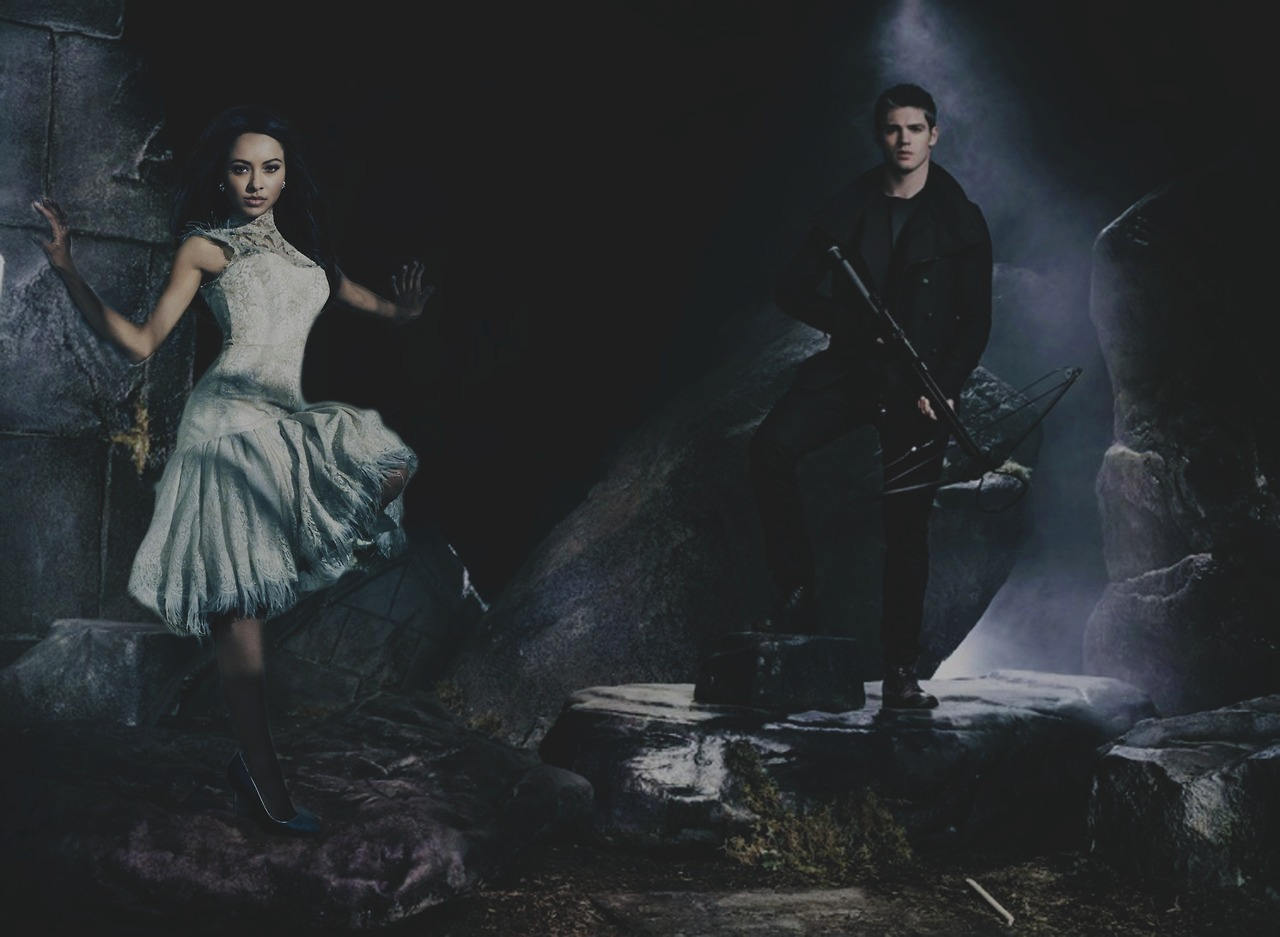 TVD Season 5 Promotional Shoot     Kat Graham  amp  Steven R  McQueenKat Graham And Steven R Mcqueen