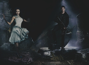 TVD Season 5 Promotional Shoot — Kat Graham & Steven R. McQueen