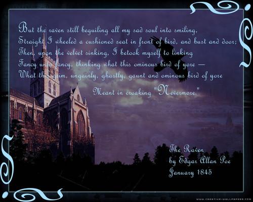 Poets & Writers wallpaper called The Raven - Edgar Allan Poe