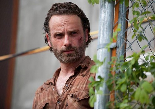 Andrew 링컨 바탕화면 with a chainlink fence and a green 베레모, 베 레모 entitled The Walking Dead - 4x03