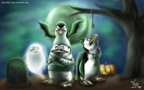 पेंग्विन्स ऑफ मॅडगास्कर वॉलपेपर titled This is हैलोवीन