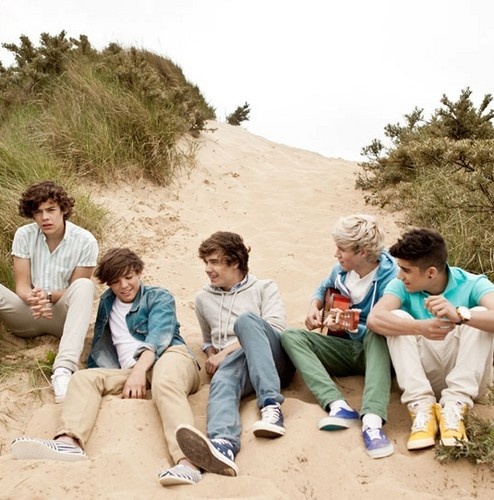 One Direction wallpaper possibly with a park bench entitled Up All Night