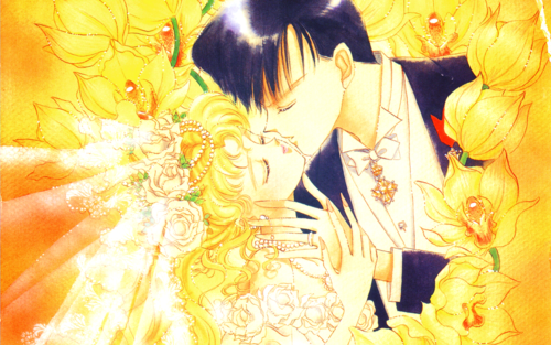 sailor moon fondo de pantalla entitled Usagi and Mamoru