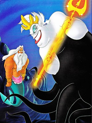 Walt Disney Book Images - King Triton & Ursula
