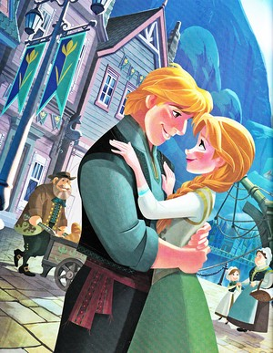 Walt Disney Book Bilder - Kristoff Bjorgman & Princess Anna