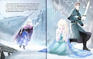 Walt Disney Book Images - Princess Anna, Queen Elsa & Prince Hans Westerguard