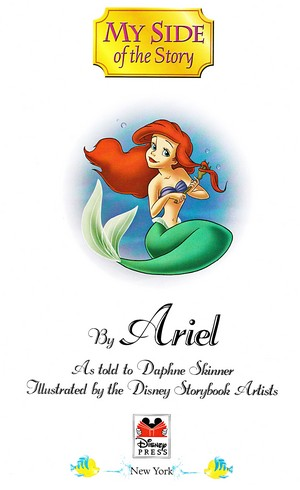 Walt ディズニー Book 画像 - Princess Ariel & ヒラメ