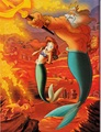 Walt Disney Book Images - Princess Ariel & King Triton - walt-disney-characters photo