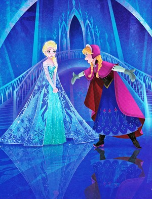 Walt Disney Book afbeeldingen - Queen Elsa & Princess Anna