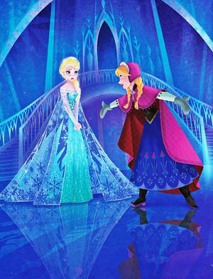 Walt Disney Book picha - Queen Elsa & Princess Anna