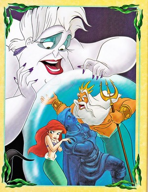 Walt Disney Book Images - Ursula, King Triton & Princess Ariel