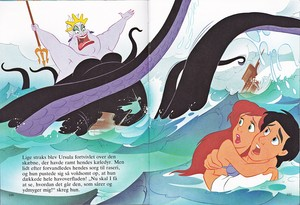 Walt Disney Book images - Ursula, Princess Ariel & Prince Eric