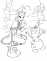 Walt Disney Coloring Pages - Princess Anna & Olaf - walt-disney-characters photo