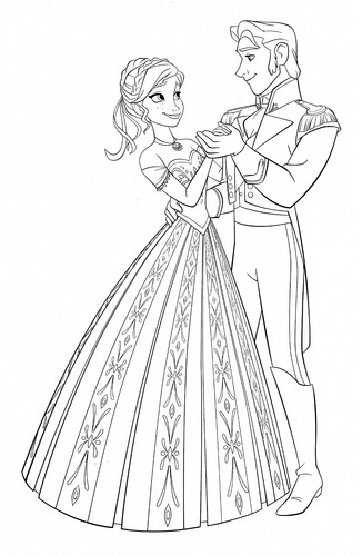 Герои Уолта Диснея Обои titled Walt Дисней Coloring Pages - Princess Anna & Prince Hans Westerguard