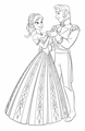 Walt डिज़्नी Coloring Pages - Princess Anna & Prince Hans Westerguard