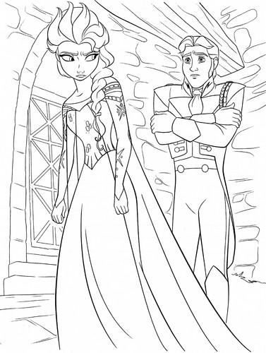 Walt-Disney-Coloring-Pages-Queen-Elsa-Prince-Hans-walt-disney  title=