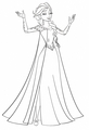 Walt Дисней Coloring Pages - Queen Elsa
