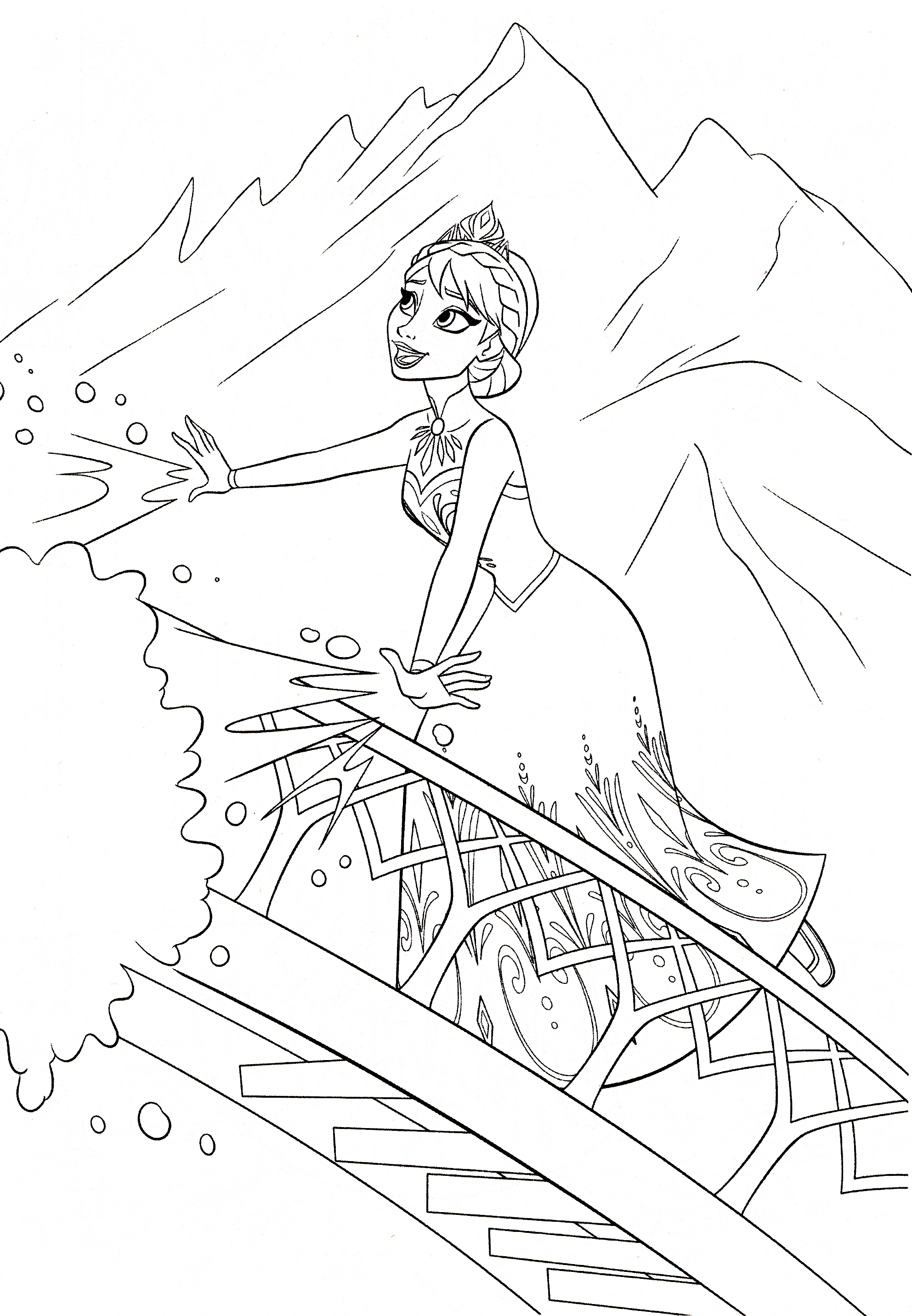 Walt Disney Coloring Pages Queen Elsa Walt Disney Elsa Frozen Coloring Pages