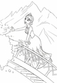 Walt Disney Coloring Pages - Queen Elsa - walt-disney-characters photo